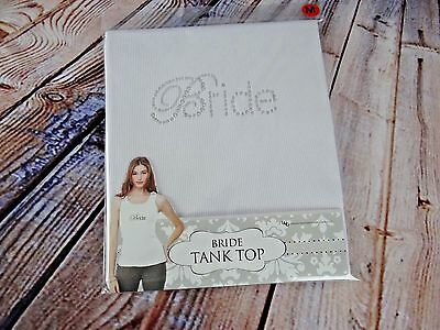 New Bride Tank Top White with Bling Size Medium (3/4-5/6) A Wedding Must Have!