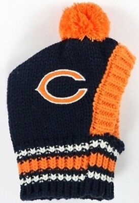 Chicago Bears NFL Official Pet Wear Knit Ski Hat for Dogs in Size Large