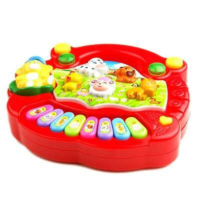 Baby Kids Musical Educational Animal Farm Piano Developmental Music Gift Toy K@