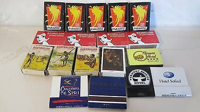 Redheads, Paradise & Souvenir Match Boxes Mix of 580 Safety Matches Unused