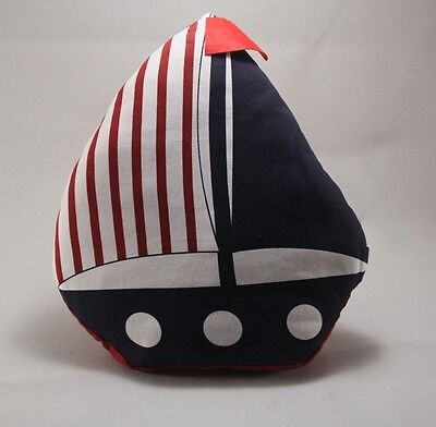 NEW -  Nursery Kids Bedroom Nautical Yacht Cushion Pillow - 40cm x 50cm