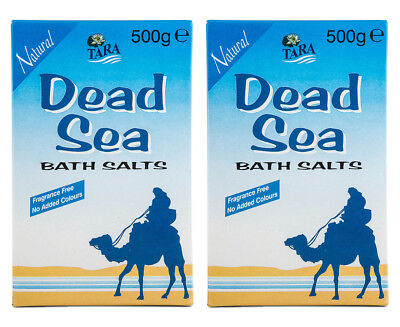 2 x Tara Dead Sea Natural Bath Salts 500g