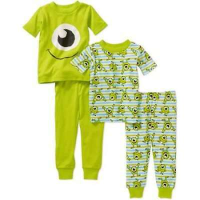 Disney Monsters Inc Baby Pajamas Size 9 12 18 24 Months New!