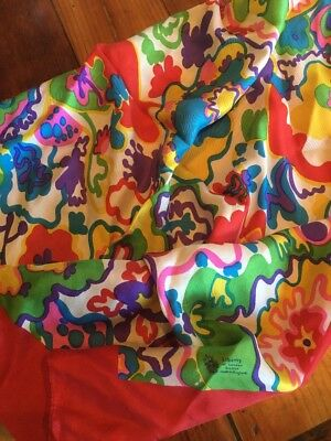 Liberty Vintage London 60s 70s 100% Silk Scarf Box Rainbow