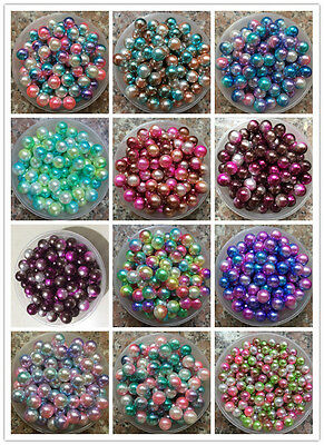 Wholesale Colorful ABS Pearl Round Spacer Loose Beads DIY 13 COLOR (3.4.6.8mm)