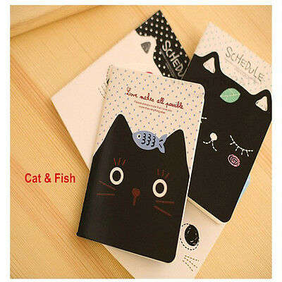 Cute Creative Animal Diary Pocket Planner Journal Notebook Gifts Stationary KW