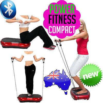 POWER FIT Vibration Machine Fitness Shaper Body Training Plate Exercise COMPACT