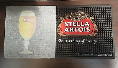 Stella Artois heavy duty thick rubber bar runner she's a thing if beauty B/NEW
