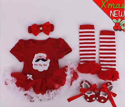 22'' Reborn Baby Red Clothes Xmas Dress Suit Santa Claus Design for Girl Doll