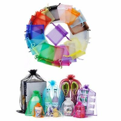 100Pc 3x4 4x6 5x7 set Organza Party Potluck Packing Wedding Xmas Candy Gift Bag