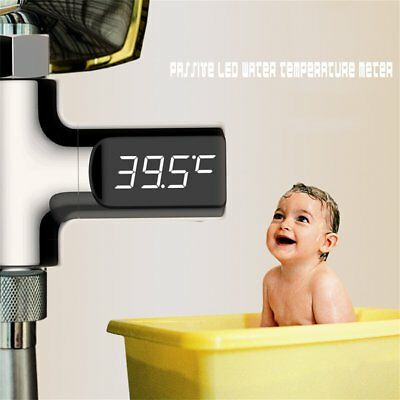 Passive LED Temperature Display Thermometer Smart Digital Shower Accessories FK