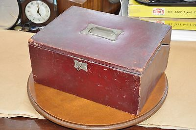 Rare Victorian Red Leather Writing Box/Slope