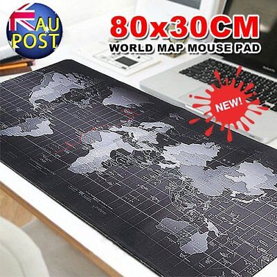 80 x 30cm Large World Map Mousepad Game Laptop Computer Keyboard Mouse Pad Mat 6