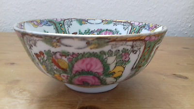 Chinese Cantonese Famille Rose Bowl Qing Dynasty.