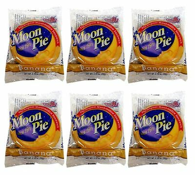 901995 6 x 78g DOUBLE DECKER BANANA FLAVOURED MOON PIES! PRODUCT OF USA