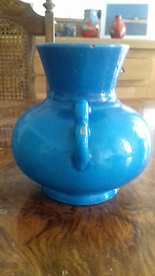 Chinese Turquoise Ming or Qing dynasty Squat Vase with handles.