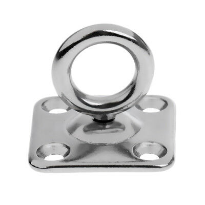 316 Stainless Steel Swivel Square Pad Eye Plate Shade Sail Boat Rigging Hardware