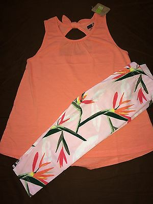Crazy 8 NWT Knot Tank Shirt and Capri Legging Set - Size S (5/6)