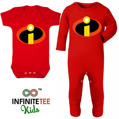 The Incredibles Baby Grow - Newborn Jack Halloween Costume Disney Fancy Dress