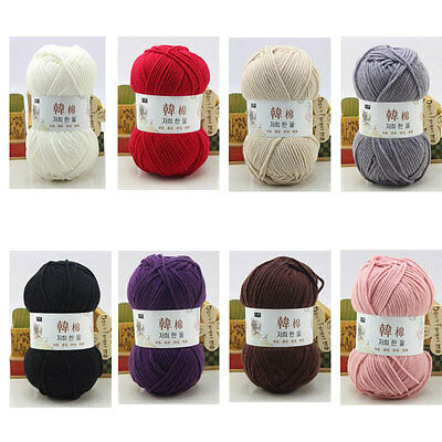 LOT of 1 Skeins x 100g NEW Chunky Hand-woven Colors Knitting Scores wool Yarn