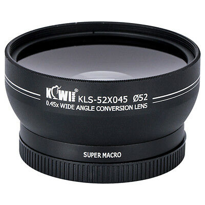 0.45x Magnification Wide Angle Conversion Lens for Photo Lens Diameter 52mm