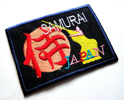 Samurai Japan japanese Character Embroidered Iron on Patch Free Shipping
