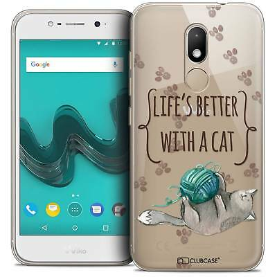 "Coque Crystal Gel Wiko Wim LITE (5.0"") Extra Fine Souple Quote Life's Better Wit"