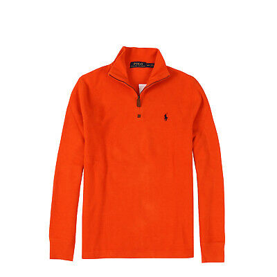 NWT Polo Ralph Lauren Men's Cotton French-Rib Half Zip Pullover Knit Sweater