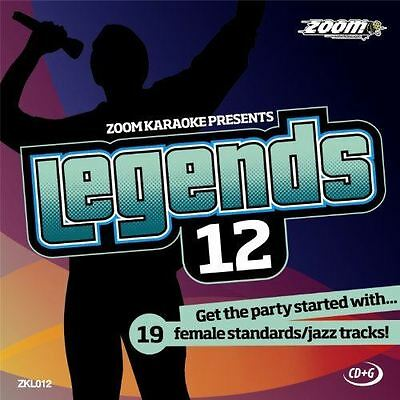 Zoom Karaoke Legends Volume 12 Female Standards / Jazz Tracks CD+G New Sealed