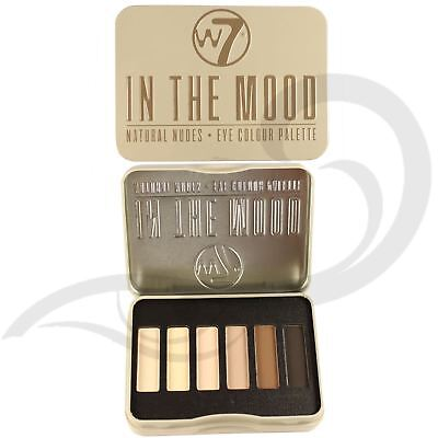 W7 Eyeshadow Palette Tin In The Mood Natural Nude Eye Colours