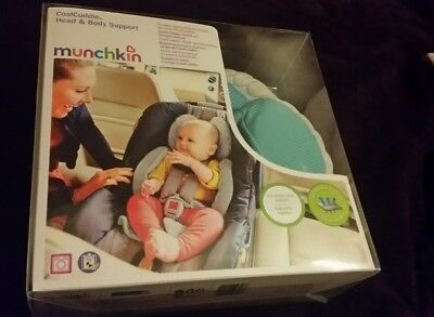 MUNCHKIN coolcuddle head and body support car seat pram pushchair buggy support