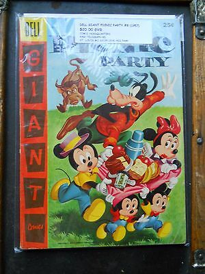 Walt Disney`s Dell Giant Picnic Party 25 Cent Comic #8 1957 Gvg Goofy Mickey !!!