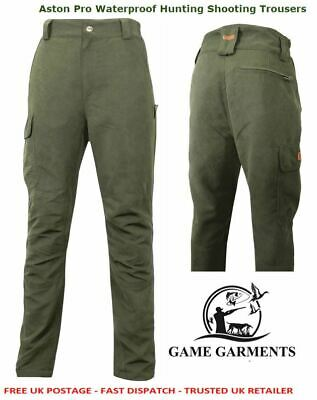 Game Aston Pro Waterproof Trousers Olive Green  Hunting Shooting Beating Fishing
