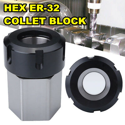 ER-32 Hex Collet Block Collect Chuck Holder for Lathe Engraving Machine