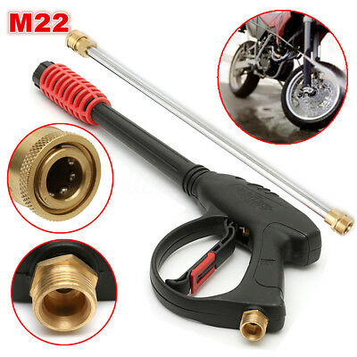 4000PSI M22 High Pressure Washer Cleaner Spray Gun with Extension Wand Lance Set