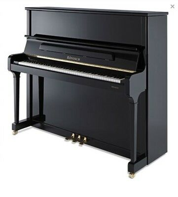 RONISCH 132K Vertical Grand Piano, Serial No. 211143, Ebony Polish.