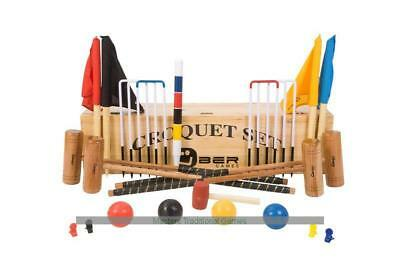 Uber Pro Croquet Set in a wooden box