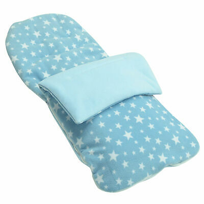 Light Blue Star Snuggle Summer Footmuff Compatible With Bugaboo Donkey duo