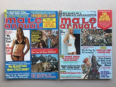 Vintage Lot 2 Male Annual Pulp Sexy Hitler Hunters Hookers Who Cruise Magazines