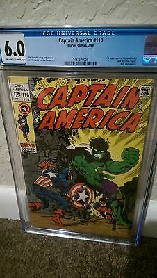 CGC 6.0 Captain America #110 1st appearance of Madame Hydra