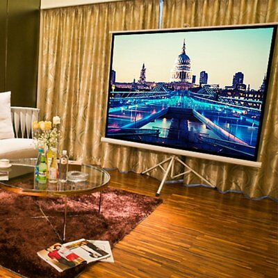 "Portable 72"" inch 16:9 HD Fabric Matte White Projector Folded Projection Screen"