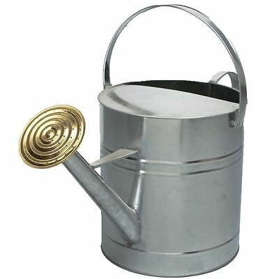 9L / 2 Gallon Garden Plant Flower Galvanised Metal Steel Watering Can with Rose