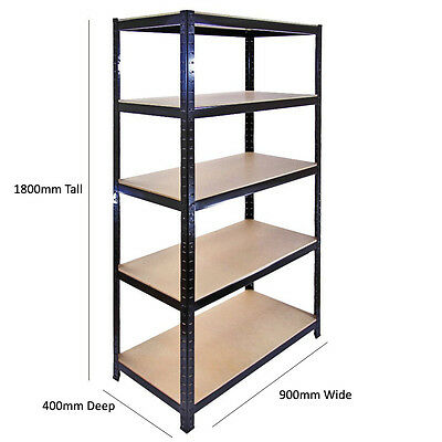 Rack for Home Warehouse Shop Display Garage Boltless Shelving 5 Tier Heavy Duty