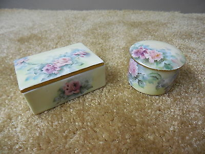 Antique Porcelain pin / jewelry covered jar dish Trinket / Dresser