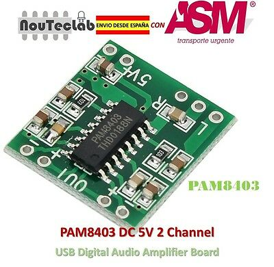 PAM8403 Audio Module Class-D Digital Amplifier Board USB Power 2.5 to 5V