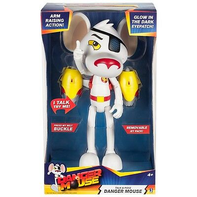 """Danger Mouse - 10"""" Talk and Pose Danger Mouse Feature Figure  *BRAND NEW*"""