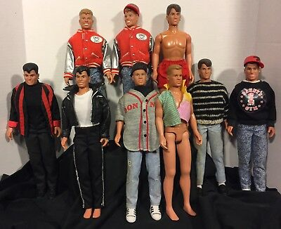 Retro 1990's New Kids On The Block Doll Lot Of 9