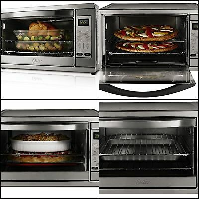 Extra Large Digital Countertop Convection Oven Electric Pizza Stainless Steel
