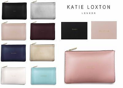 Katie Loxton Perfect Pouch Clutch Bag Soft Material 16cm x 24cm + Free Gift Bag