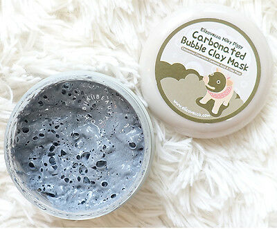 Milky Piggy Clay Mask -Carbonated Mud Black Bubble Face Pore Blackhead Peel Acne